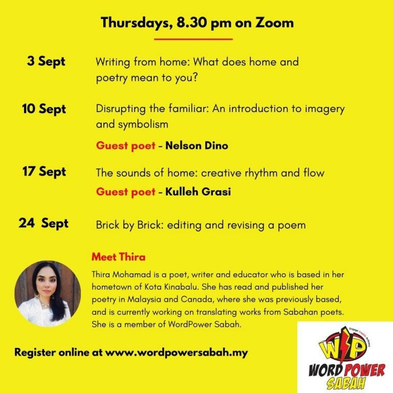 Poetry at Home: A four-part poetry workshop with Thira Mohamad 2020-09-24